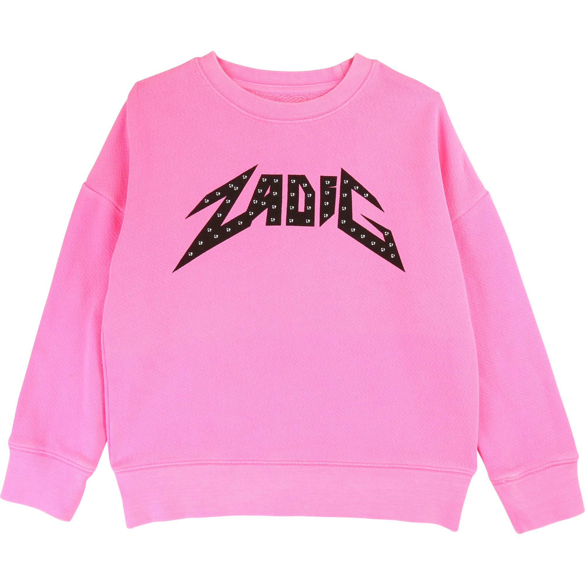 Girls Pink Jersey Sweatshirt