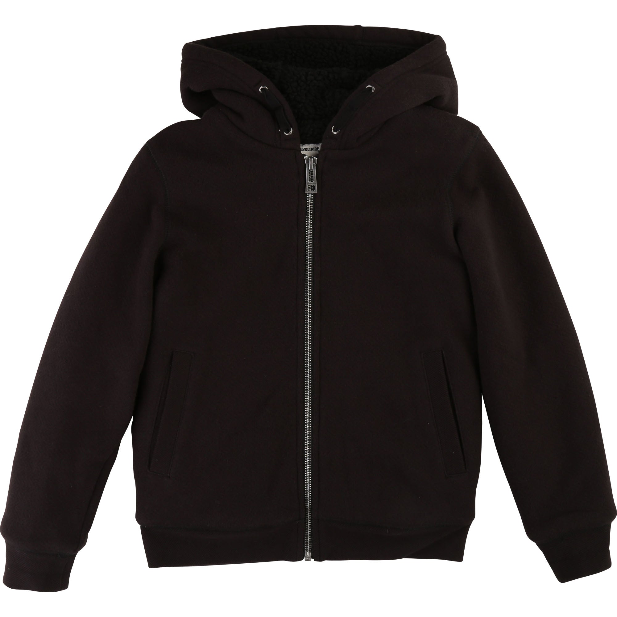 Boys Black Hooded Top