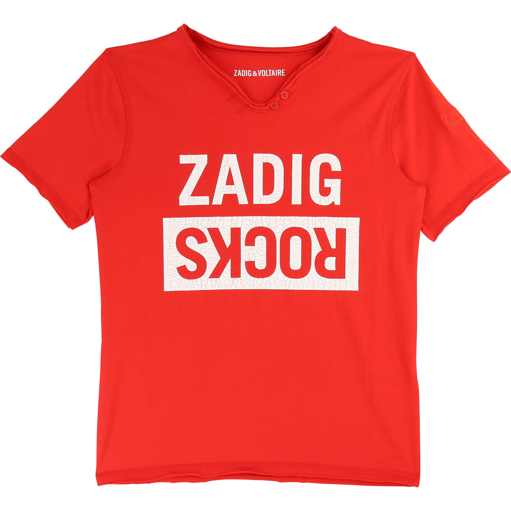 Boys Red Cotton T-Shirt