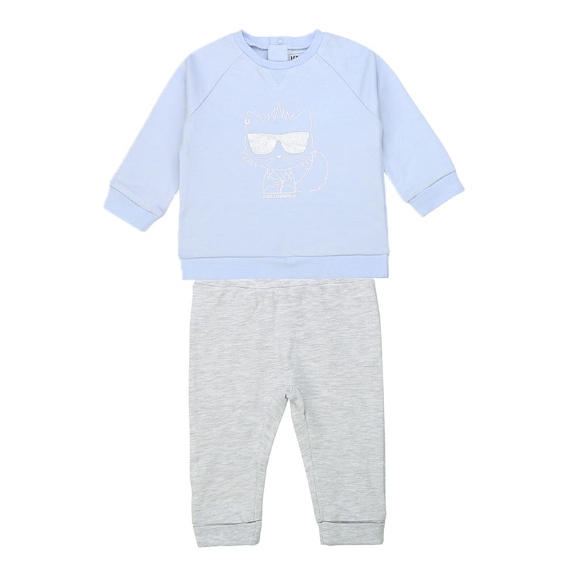 Baby Boys Blue & Grey Tracksuit