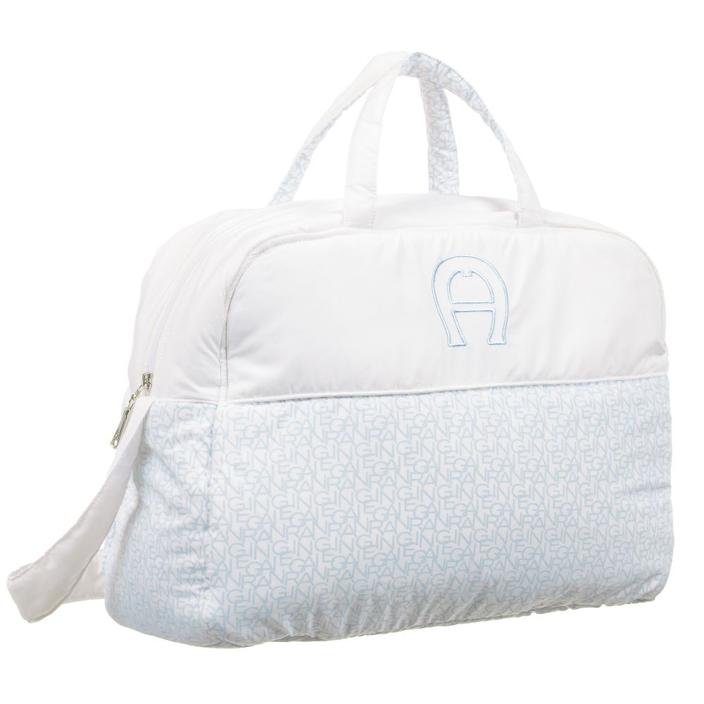 Baby Boys Blue & White Changing Bag