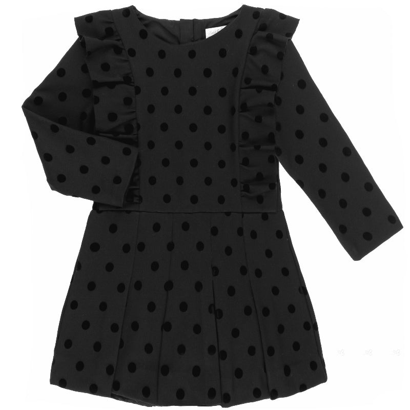 Girls Black Polkadot Playsuit