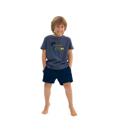 Boys Navy Blue Tailored Swim Shorts - Junior Couture