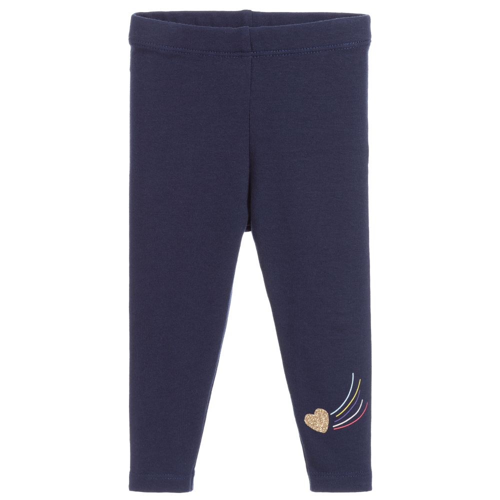 Baby Girls Navy Leggings