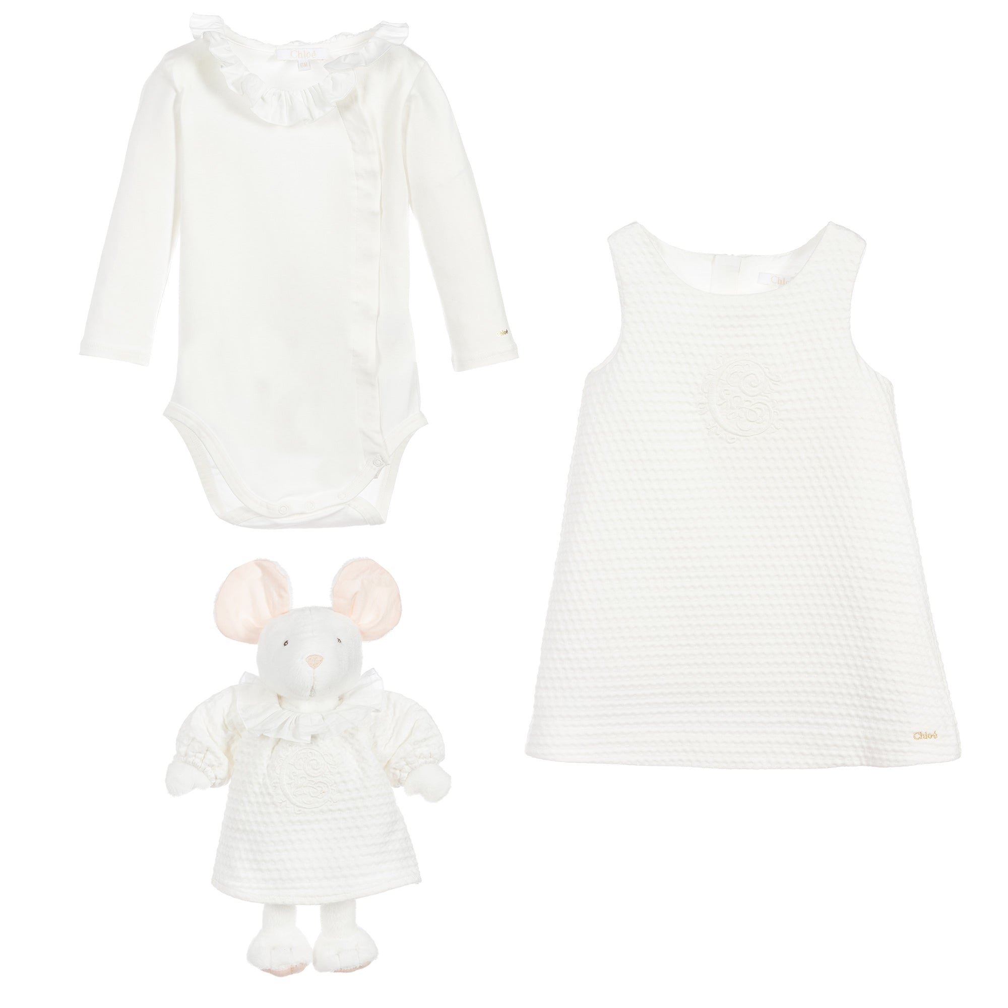 Ivory Baby Girls Dress & Gift Set