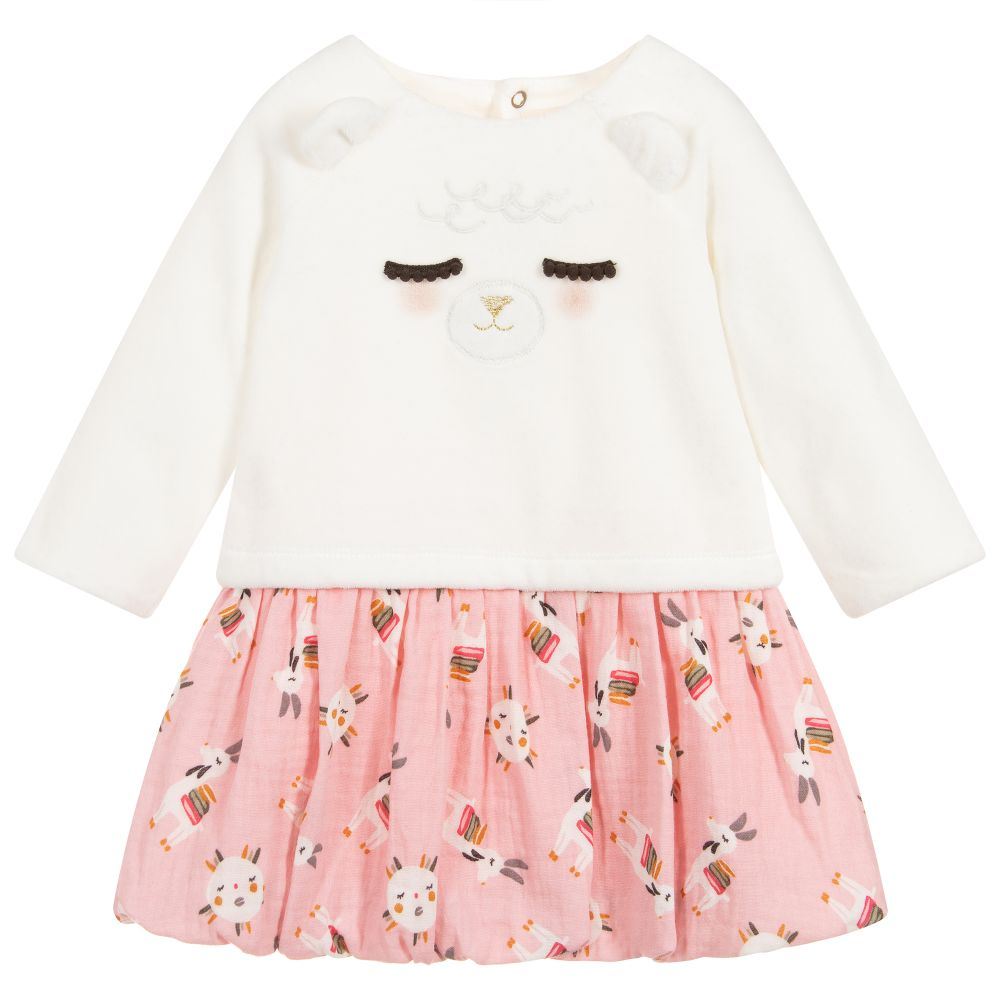 Baby Girls Ivory & Pink Dress