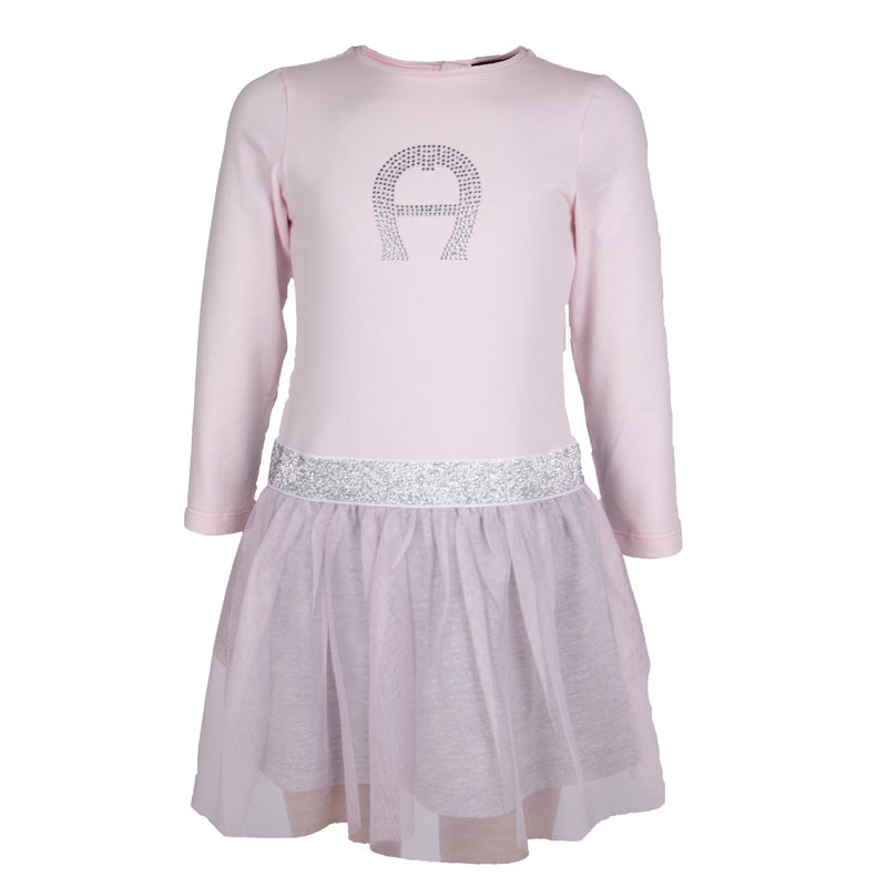 Baby Girls Pink & Silver Tulle Dress