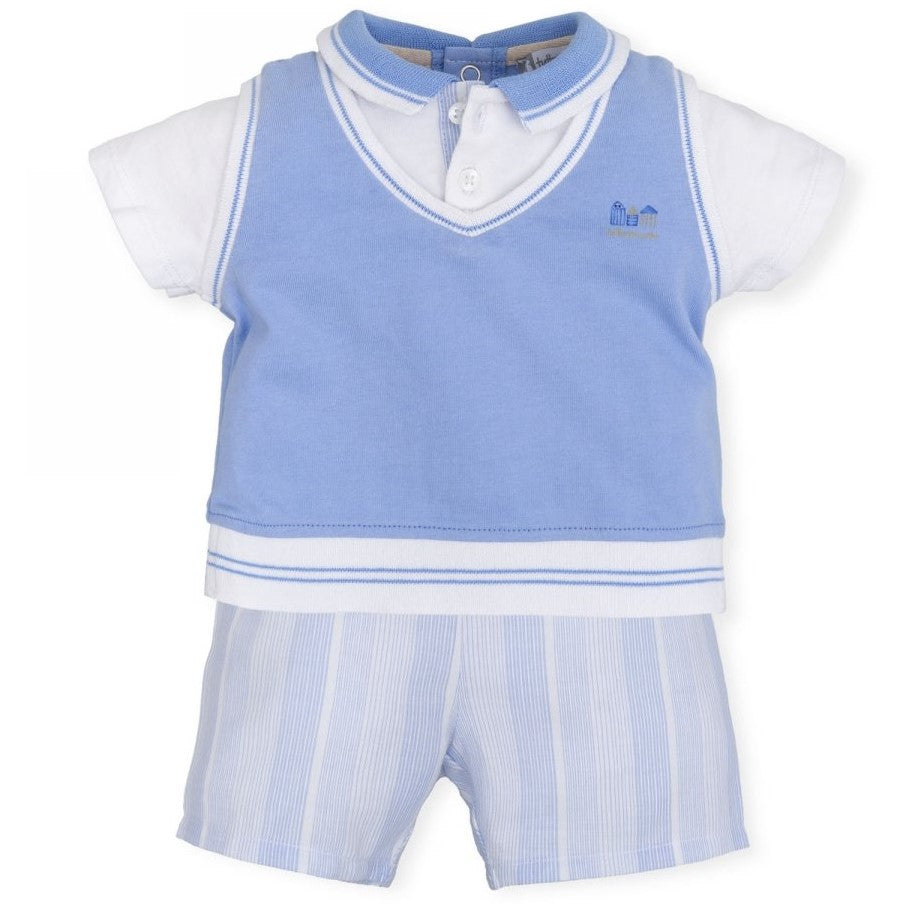 Baby Boys Special  Occasion Blue Two Piece Set