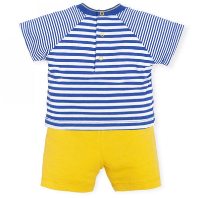 Boys Blue and Yellow Two Piece Set
