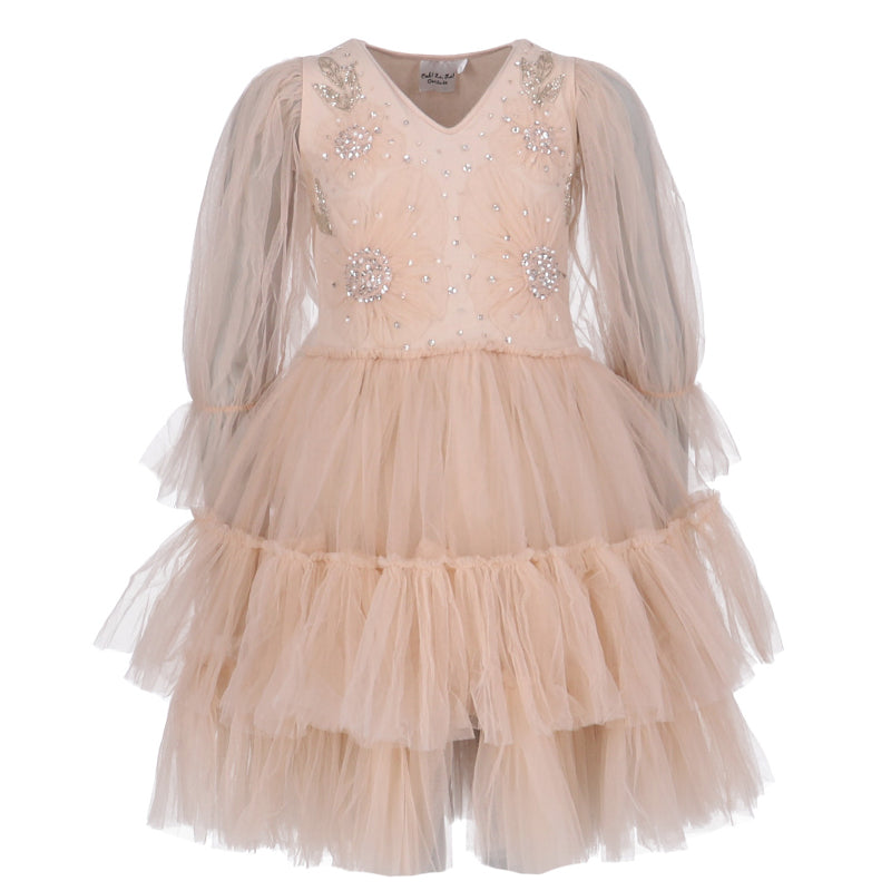 Girls Blush Pink Doll Dress