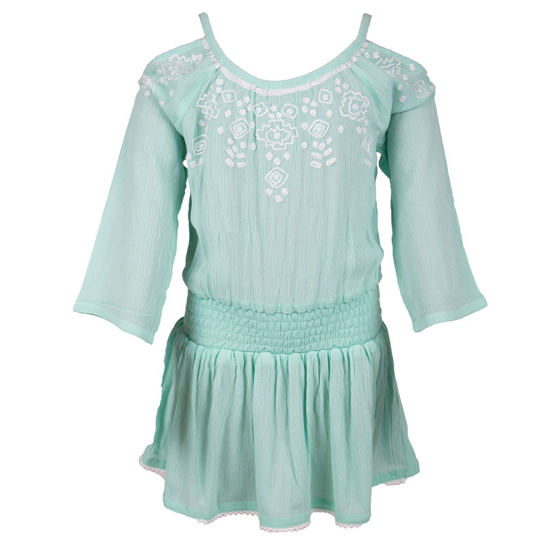 Girls Aqua Beach Dress
