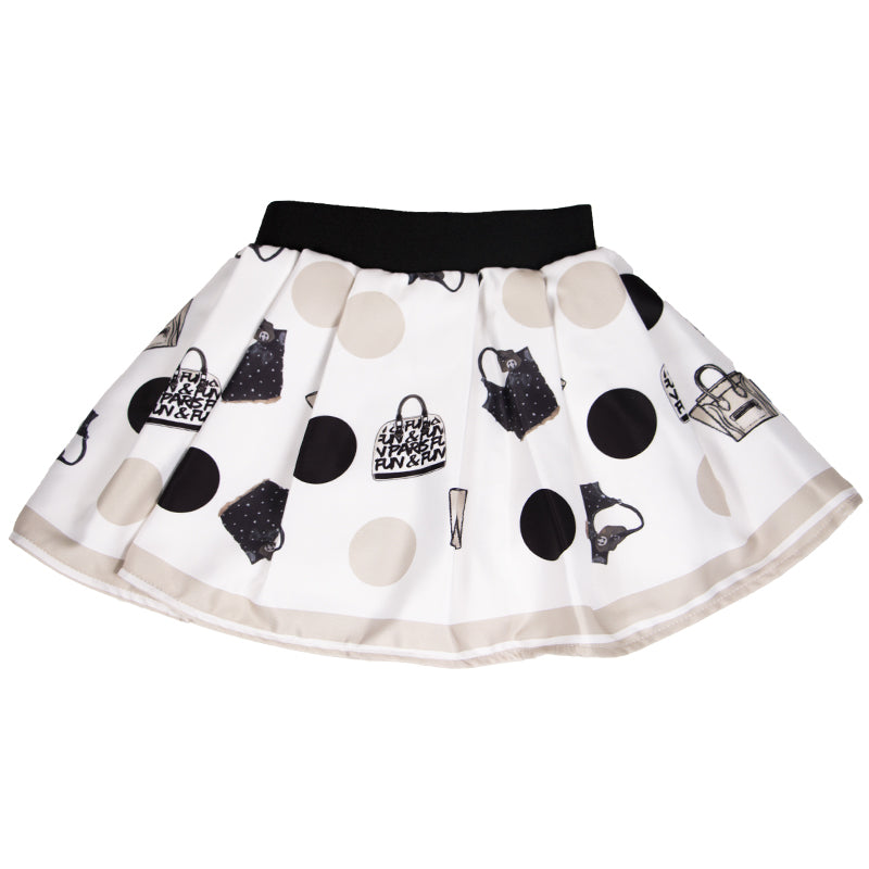 Baby Girls Ivory Printed Skirt