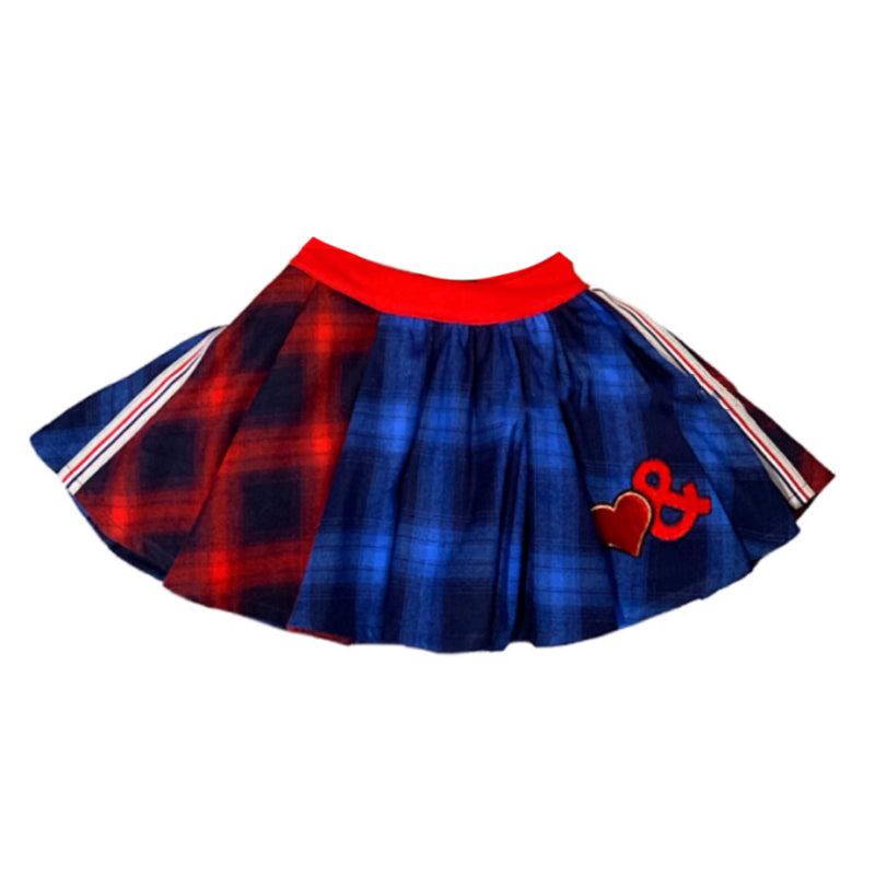 Baby Girls Blue & Red Tartan Skirt