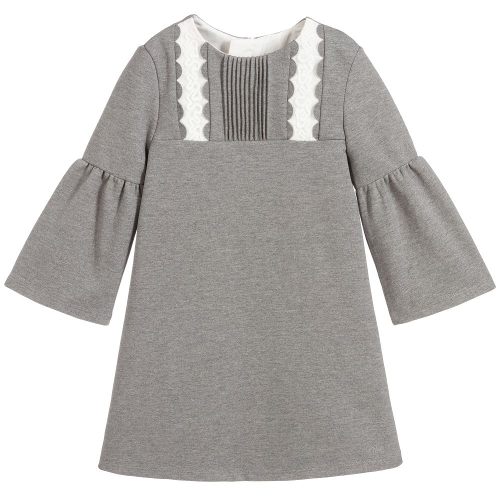 Girls Grey Jersey Dress