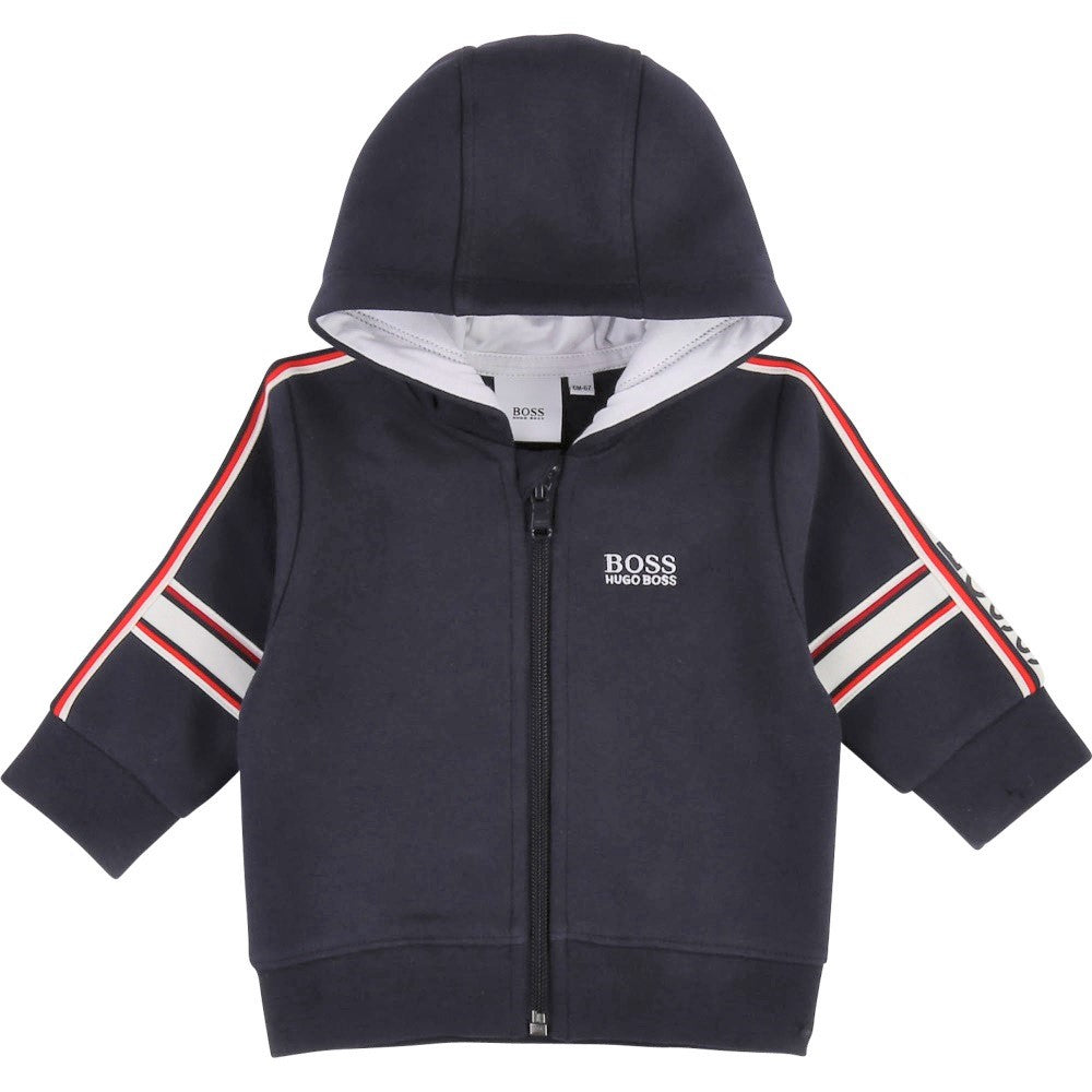 Baby Boys Navy Hooded Top