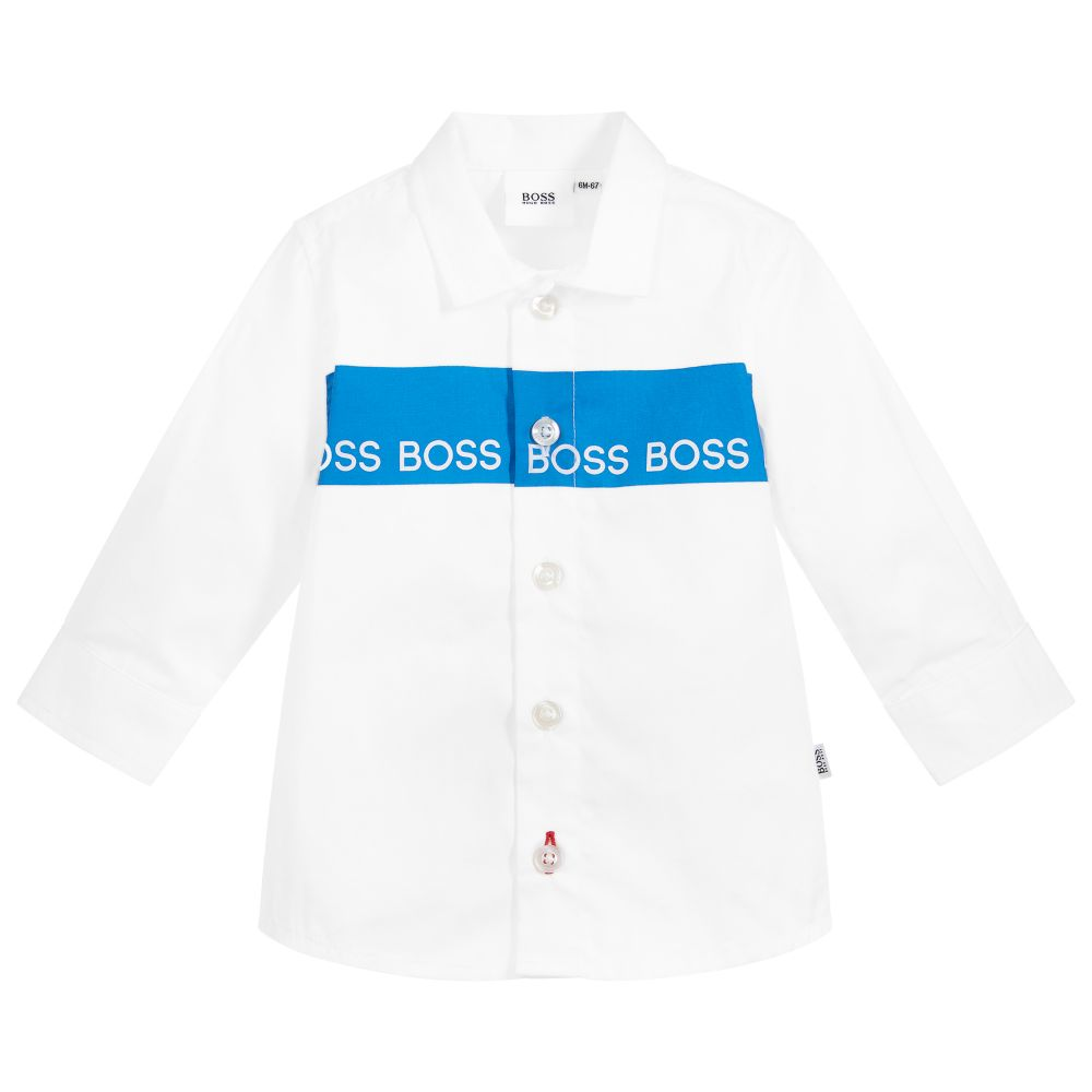 Boys White Logo Shirt