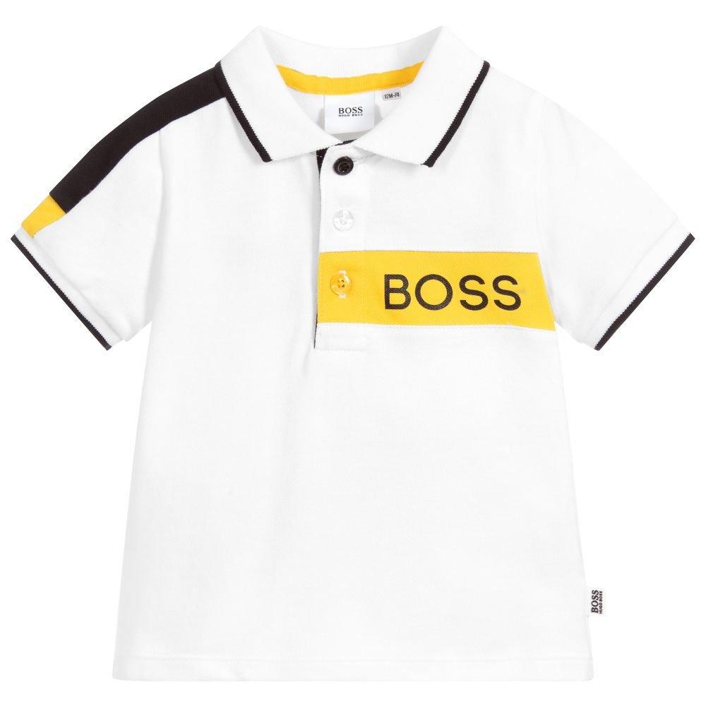 Baby Boys White Logo Polo Shirt