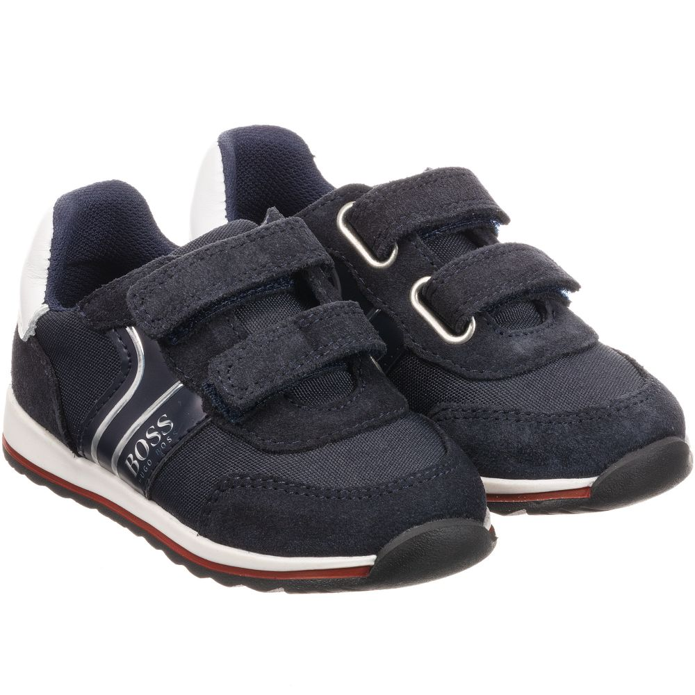Boys Blue Velcro Trainers