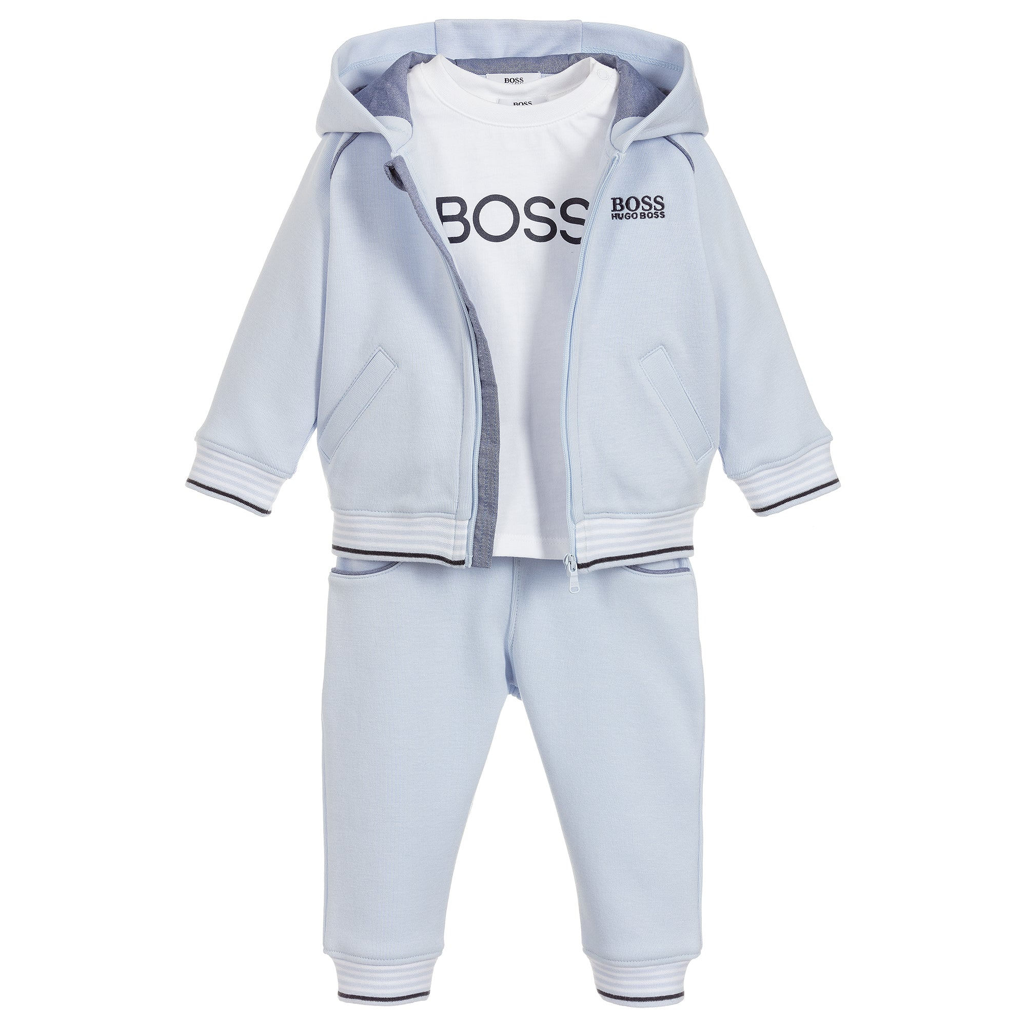 Baby Boys Blue Tracksuit Set