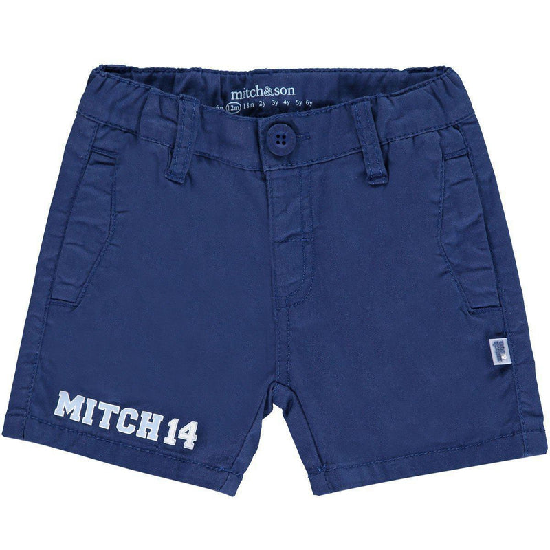 Boys Navy Blue Cotton Shorts - Junior Couture