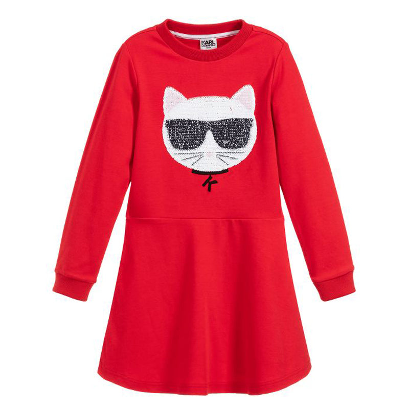 Girls Red Choupette Dress
