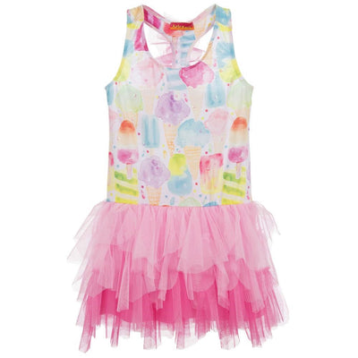 Girls Pink Ice Cream Tulle Dress - Junior Couture