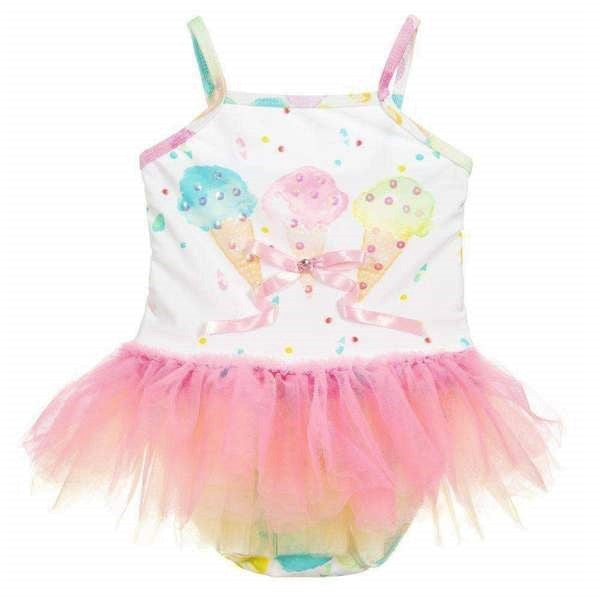 Girls Ice Cream Tutu Swimsuit - Junior Couture