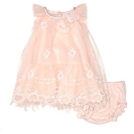 Baby Girls Tulle Lace Dress - Junior Couture