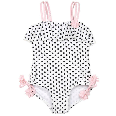 Girls Ruffle Polka Dot Swimsuit - Junior Couture