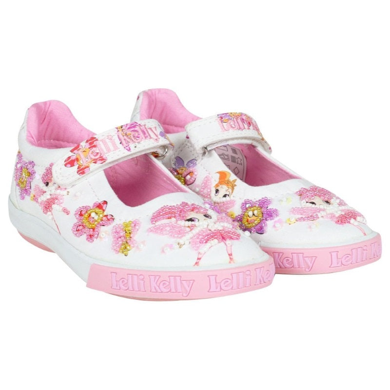 Girls White and Pink Fairy Shoes