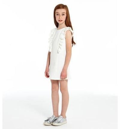 Girls Ivory Shift Dress - Junior Couture
