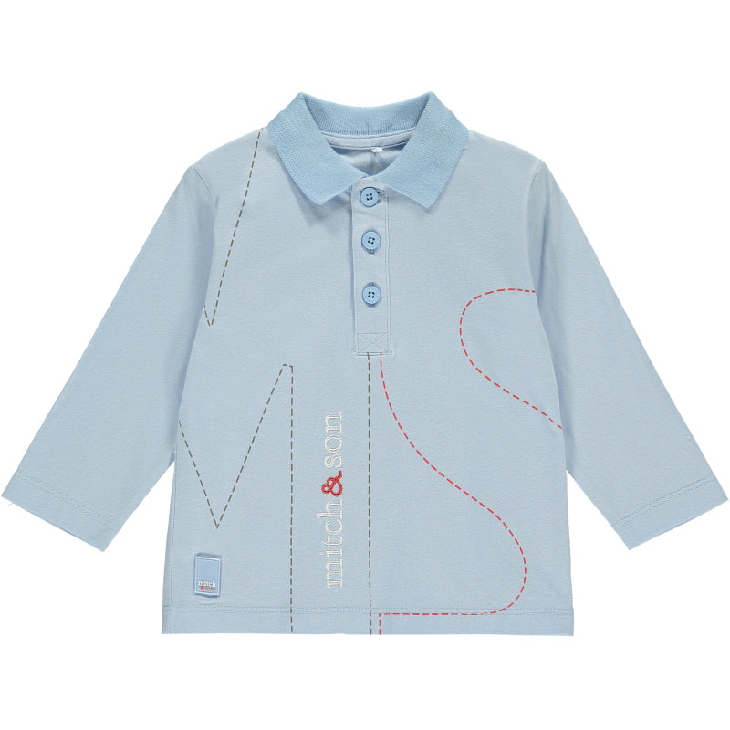 Boys Pale Blue Polo Shirt