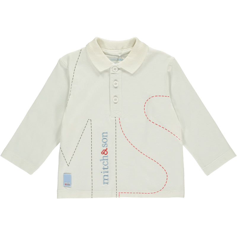 Boys White Polo Top