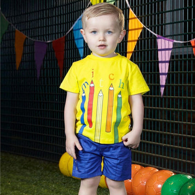 Boys Yellow Pencil T-shirt - Junior Couture