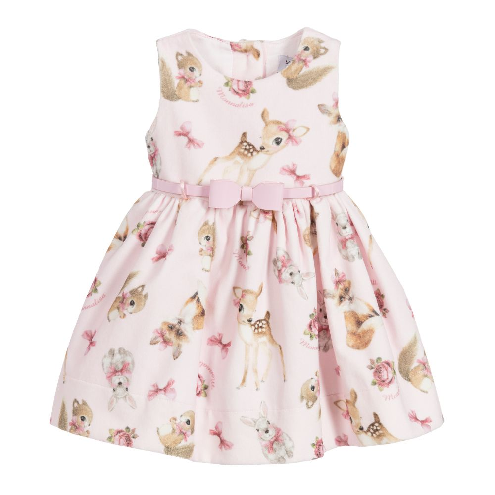 Baby Girls Pink Printed Dress