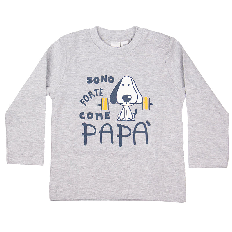 Baby Boys Grey Printed Top