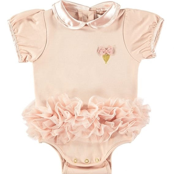Baby Girls Blush Pink Tutu Onesie - Junior Couture