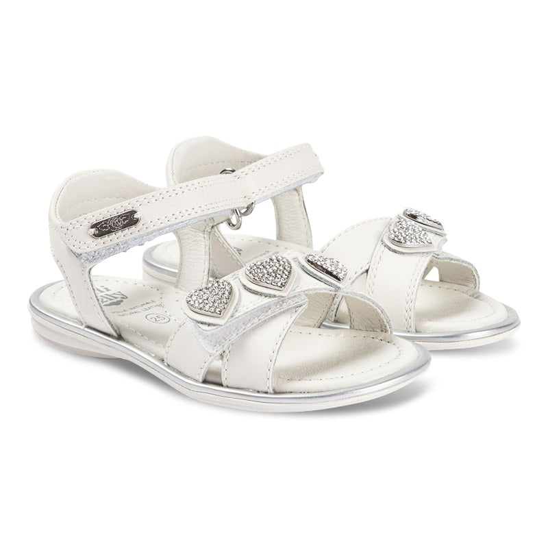 Girls White Noemi Sandals
