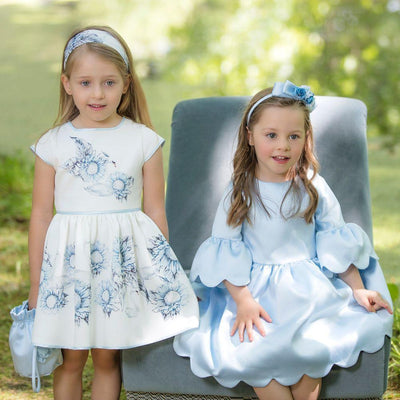 Girls Ivory Swan Dress - Junior Couture