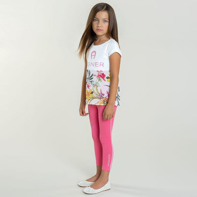 Girls Pink Leggings