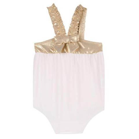 Girls Pink & Gold Swimsuit