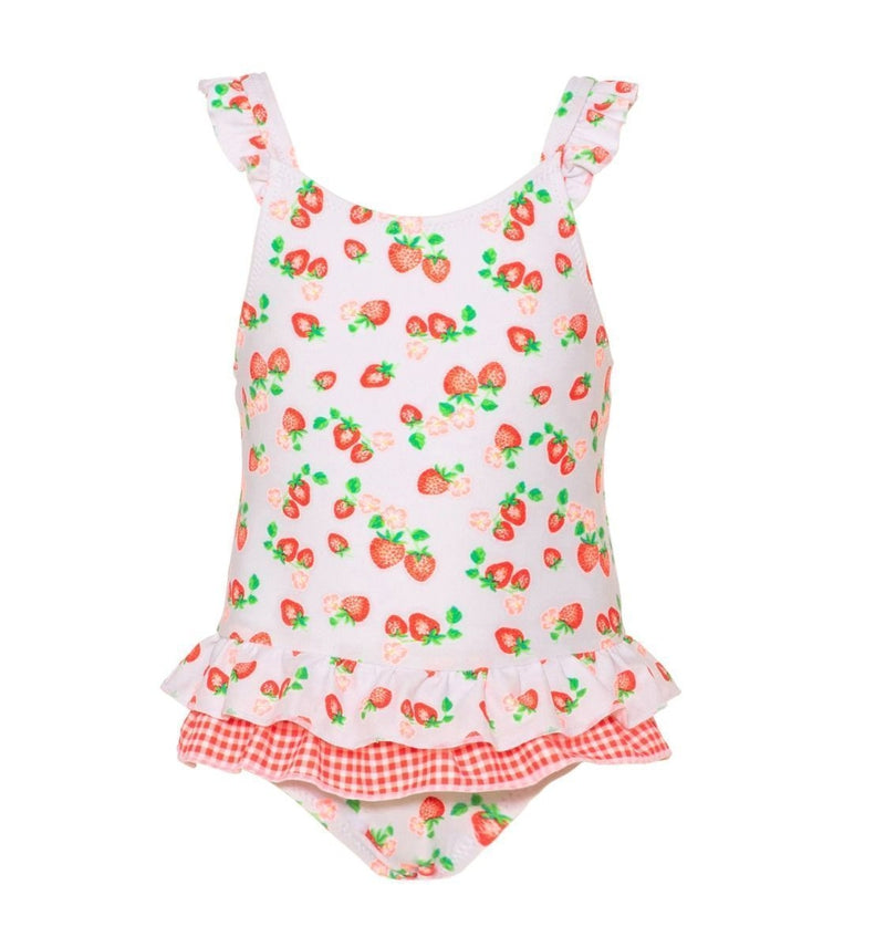 Baby Girls Wild Strawberry Frill Swimsuit - Junior Couture