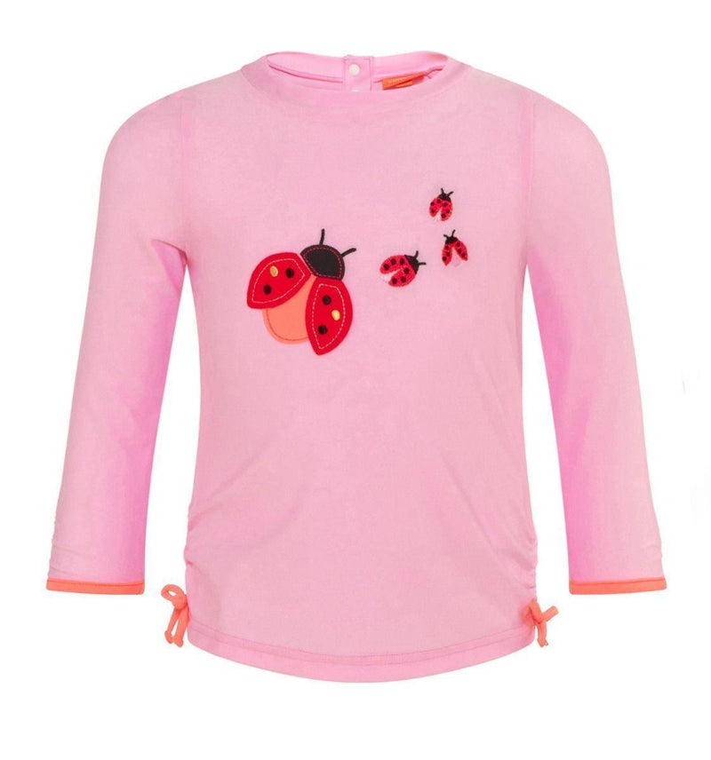 Baby Girls Pink Ladybird Rash Vest UPF 50+ - Junior Couture
