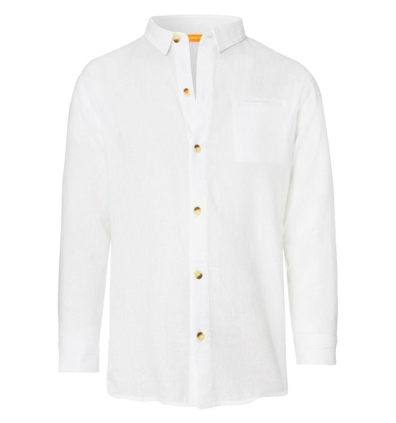Boys White Long Sleeve Shirt - Junior Couture