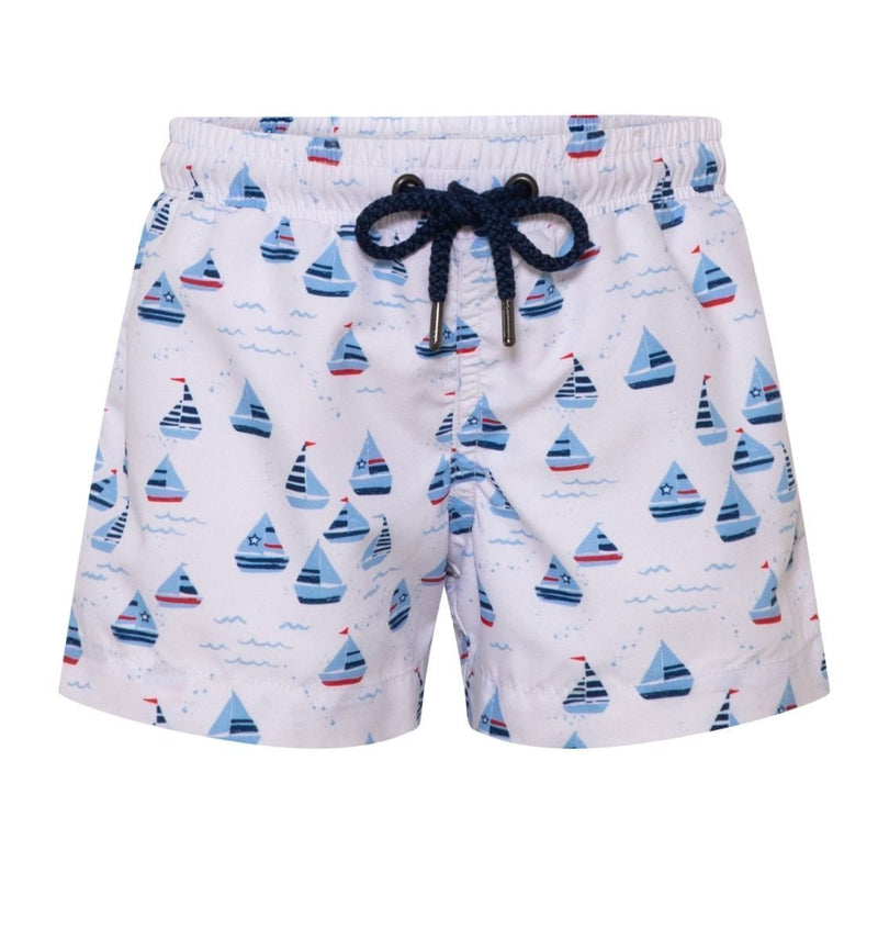 Baby Boys Little Boats Swim Shorts - Junior Couture