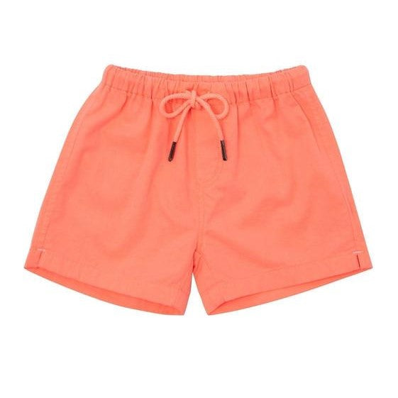 Baby Boys Orange Cotton Shorts