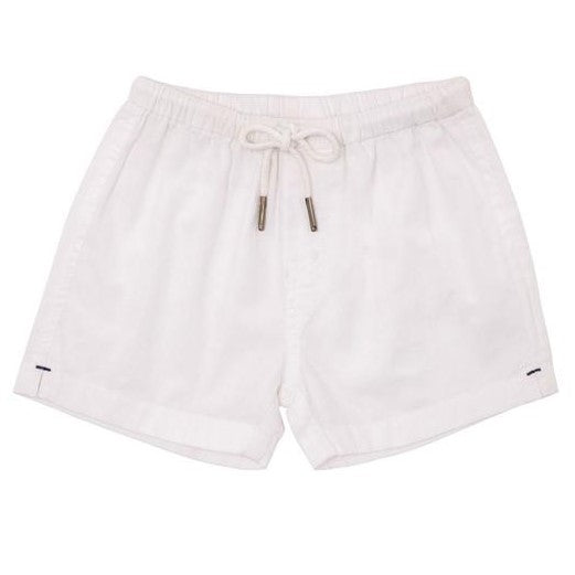 Baby Boys White Cotton Shorts