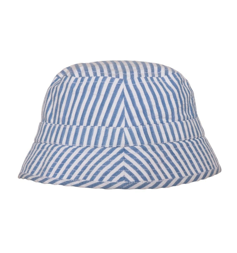 Boys Blue Stripe Bucket Hat - Junior Couture