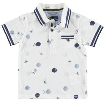 Boys Boat Print Polo Shirt - Junior Couture