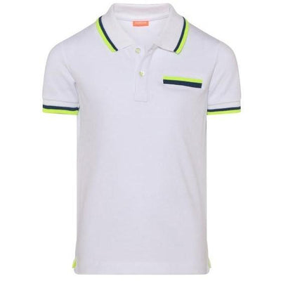 Boys White Pique Polo Shirt - Junior Couture